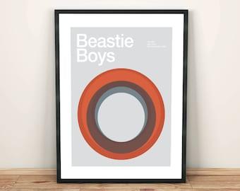 Beastie Boys Remixed Gig Poster, Art Print, Music Poster