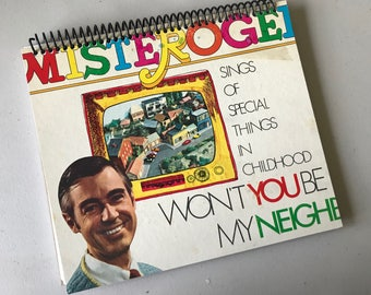 MR ROGERS Notebook Journal Made from an Actual Vintage Record cover Wont You Be My Neighbor