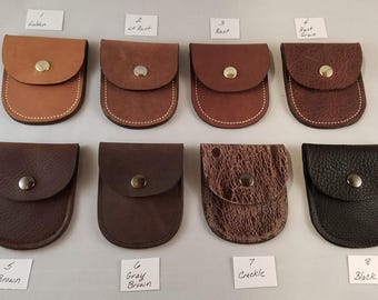 Leather Coin Purse or Ear Bud Case