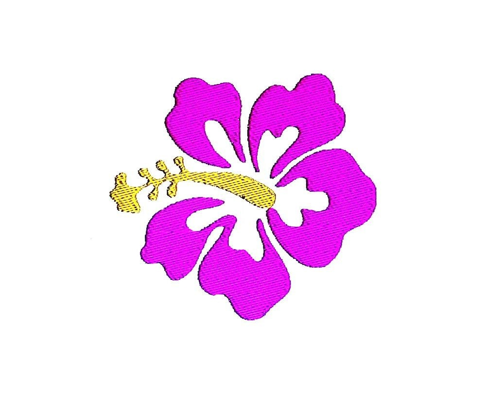 Hibiscus flower embroidery design hawaiian holiday pattern zoom izmirmasajfo Gallery