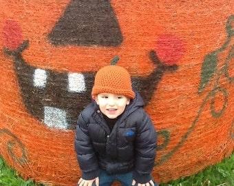 Crochet Pumpkin Hat All Sizes