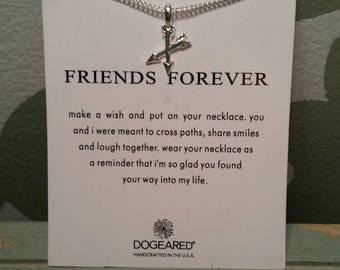 Friends Forever arrow charm with adjustable chain. Friends, best friends, charm, gift,