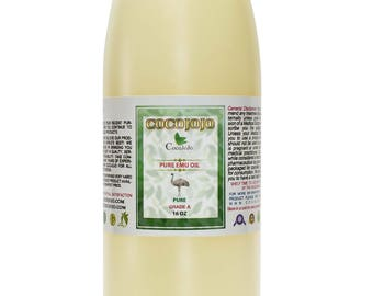 Pure Emu Oil 3 Times Refined 100% All Natural, Cold Pressed