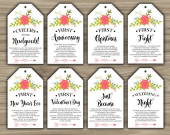 Breathtaking image intended for free printable wine tags for bridal shower