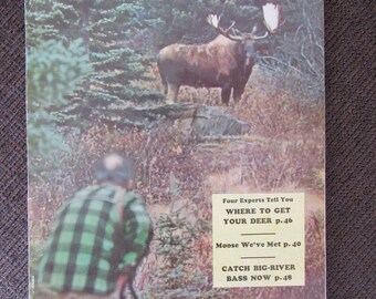 Vintage Outdoor Life Magazine October 1954 Free Shipping