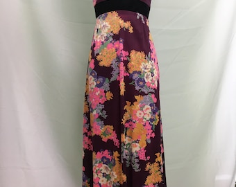 Vintage Lord & Taylor Asian Floral Maxi Dress XS