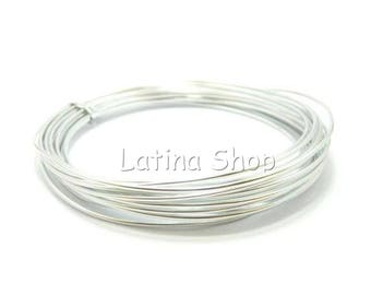 10 m - 1/1.5/2mm Silver Aluminum wire