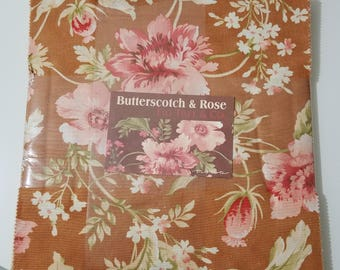 Fig Tree and Co Fig Tree Quilts BUTTERSCOTCH & ROSE cotton Layer cake quilting fabric