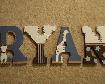 Custom Painted Letters, Coordinates with Bradley Organic Nursery Bedding