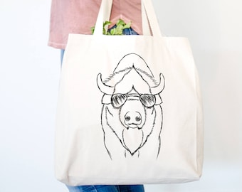 Billy the Bison Canvas Tote Bag