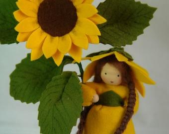 Sunflower - Flower Child - Waldorf  Inspired