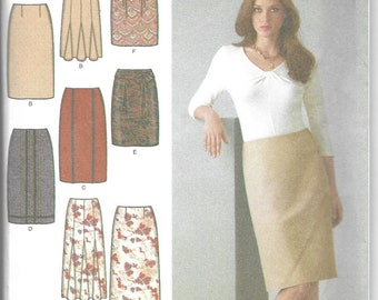 Simplicity | 4038 | Misses' Skirts in Three Lengths with Trim Variations and Belt | Uncut and Factory Folded