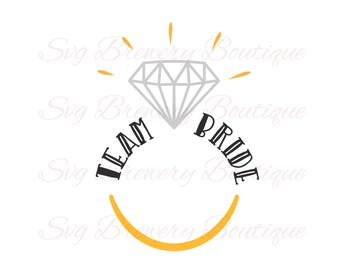 Team bride, bride tribe, Wedding ring, wedding, SVG (layered), PNG, DXF for cricut, silhouette studio, cut file, vinyl decal, t shirt design