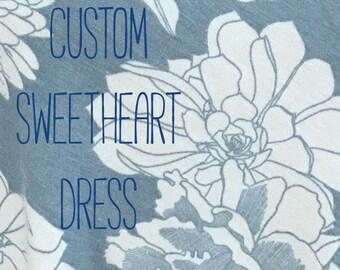 Custom Sweetheart Dress