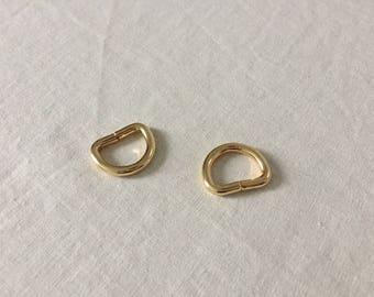 4pcs Gold D-rings 20mm inner size