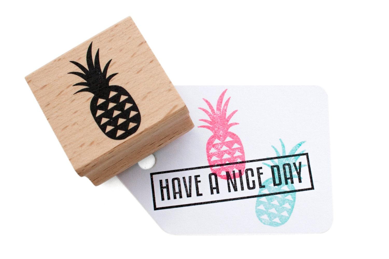 Ananas große Ananas Tinte Stempel Stempel tropischen Thema