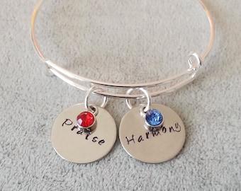 Cuff bangle, Hand stamped cuff bracelet, Personalize bracelets,Hand stamped jewelry,Engrave bracelet,Scripture bracelet,praise bracelet