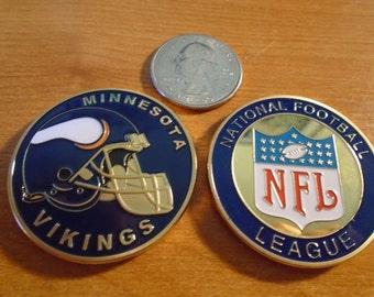 NFL Minnesota VIKINGS Football Team Challenge Coin / Medal Comes w Hard Case
