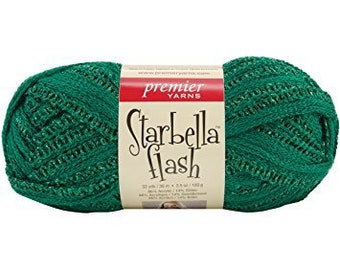 Premier Starbella Yarn in Emerald color