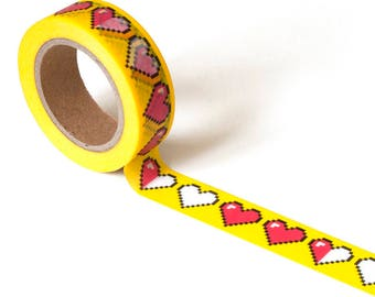 8-BIt Heart Washi Tape