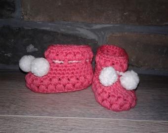 Puff stitch Baby Bootie