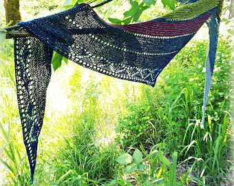 2 Stones Knitted Shawl Pattern Instant Download