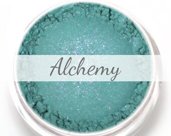 """Teal Blue Eyeshadow Sample - """"Alchemy"""" - Turquoise with violet duochrome"""