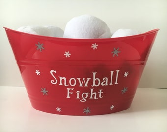 Snowball fight-Family gift-Holiday decor-READY TO SHIP in 3 business days-Personalized-Fun-Kids-Christmas gift
