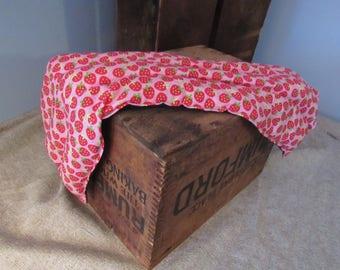 Strawberries Reusable Rice Neck Heating Bag