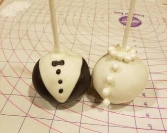 Bride and Groom cake pops (order of 13)