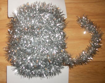 Mini Vintage Looking Silver Tinsel