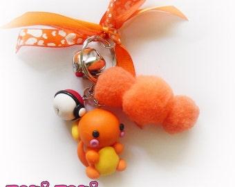 Cute Chibi Keychain, Polymer Clay Keychain, Kawaii Keychain, Polymer Clay Charm, Chibi Keychain, Anime Keychain, Anime Charms, Custom Charm