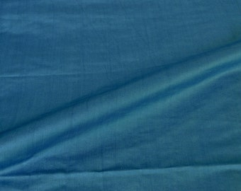 Celestial Blue luxurious Cotton silk top quality fabric sold by yard