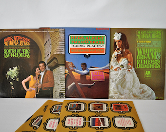 Lot of 3 Classic Herb Alpert Vinyl Records. Herb Alpert & The Tijuana Brass: Whipped Cream, South of the Border, Going Places. LP's. 1965.