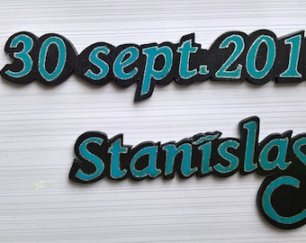 lettering personalized wooden painted and made by hand
