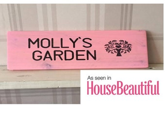 Handmade wooden personalised garden signs plaque any text can be added or changed childrens play equipment, pet kennels, summer house rustic