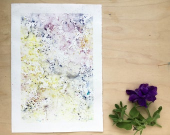 Original watercolour painting - Rain Painting  - Sunshine and Dusty Garnet - Original Painting - A5 - Desk Art