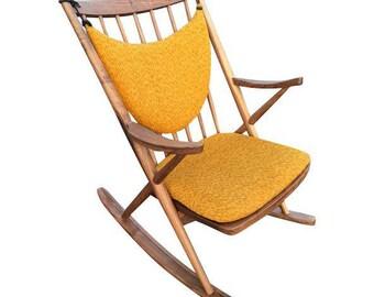 Danish Modern Style Sculptural Rocking Chair