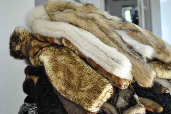 BLUE fur coat Vintage luxurious 164 fur coat women's NORVEGIAN FOX TqO6U5