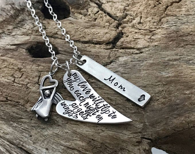Memorial Gift Husband. Grief Necklace. Loss of Spouse. Angel. Memorial Jewelry. Memorial gift dad. Sympathy Necklace. Sympathy Gift Mother