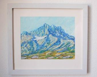 Swiss mountain - Dents du Midi - Switzerland art