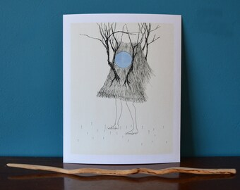 Moonheart. A fine art giclee print.