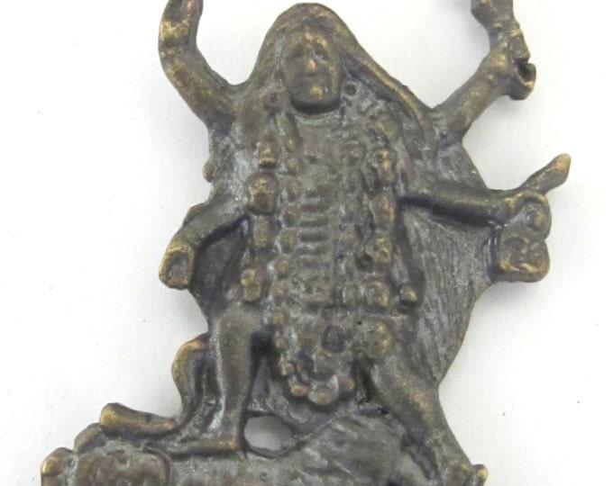 Antiqued finish Goddess Kali Shiva pendant from Nepal - CP042 custom design copyright Nepalbeadshop