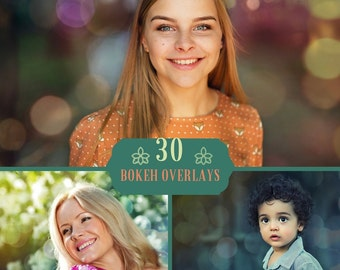 30 Bokeh Photo Overlays, Bokeh Overlays, Photoshop Overlay, Digital backdrop, Bokeh Lights, Lights Overlay, Spring Overlays, Sparkle overlay