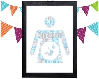 Personalized Gift Pregnancy Gift Baby Shower Gift For New Mom Baby Gifts Wall Prints Wall Art Wall Decor Personalised Gift Wall Art Prints