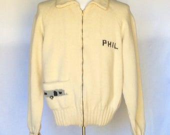 Vintage 1950s Men's Cowichan Sweater