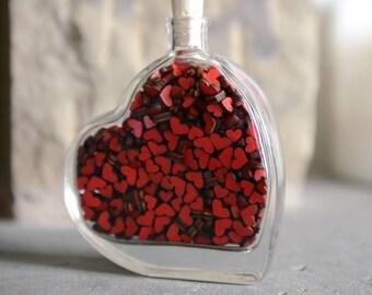 Jar of Hearts -  Wooden Laser Cut Hearts (100ml)