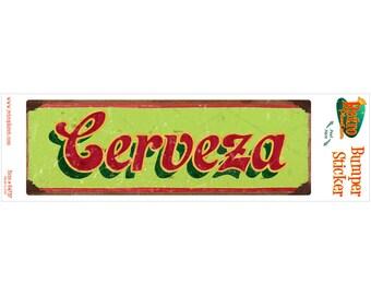 Cerveza Mexican Beer Vinyl Sticker Green - #64757