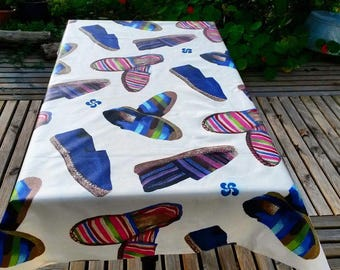 coated blue sneakers from the Basque country tablecloth 120cm X 150 cm