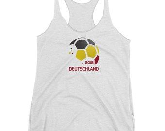 Women's Deutschland National Soccer Team German Football Fan Racerback Tank